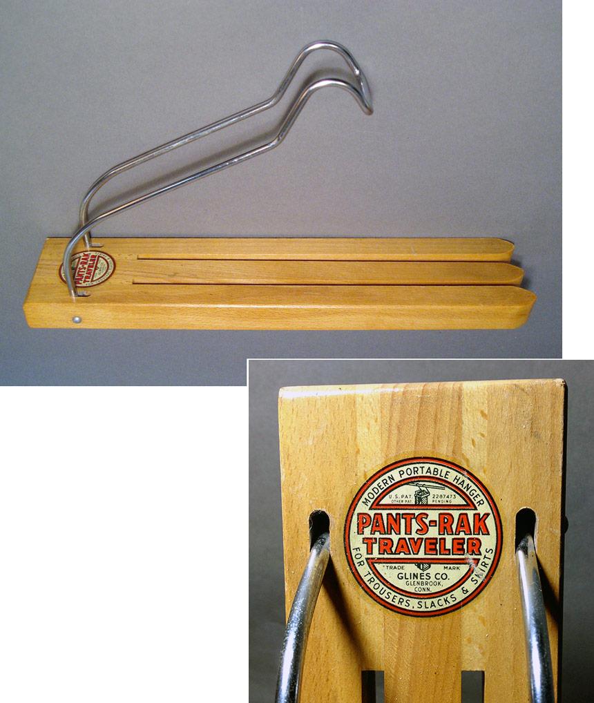 """画像1: 1940's PANTS-RAK """"TRAVELER"""" Wood Pants Hanger (1)"""
