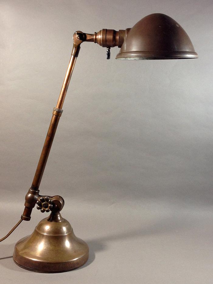 """画像1: 1910-20's """"O.C.White"""" Brass Telescopic Desk Lamp 【PROPERTY - B of E - N.Y.CITY】 (1)"""