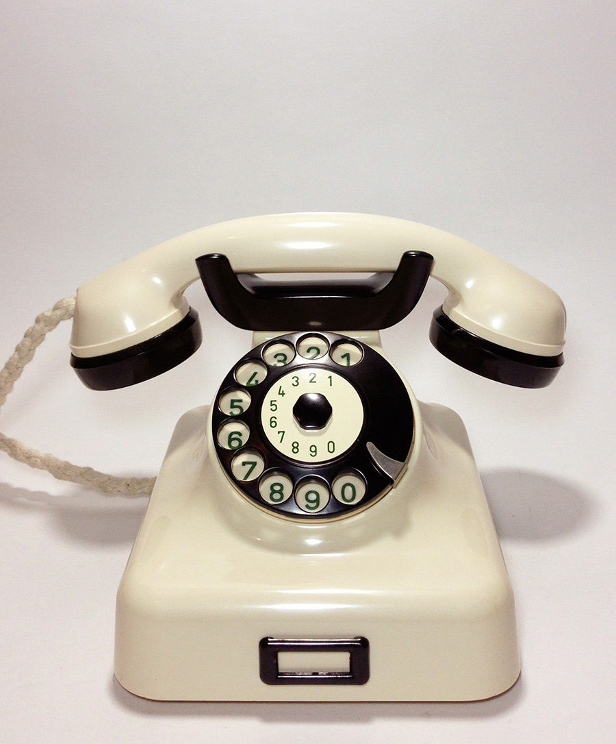 画像1: - 実働品 - German Bakelite Telephone【Ivory】 (1)