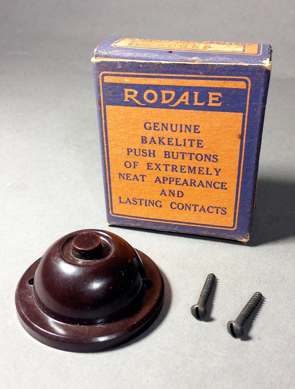 """画像1: 1940-50's """"RODALE"""" Doorbell Push Button (1)"""