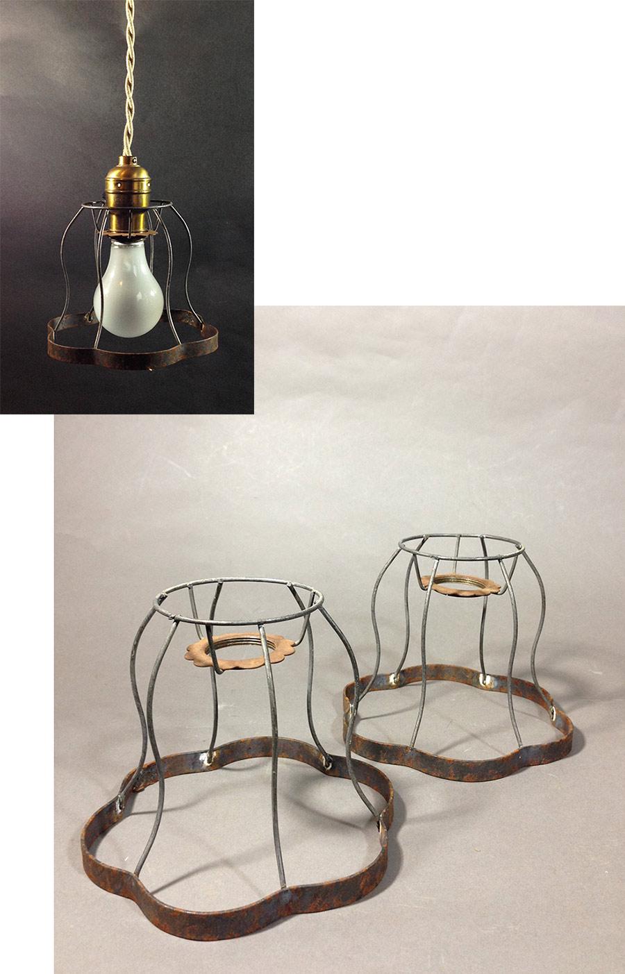 """画像1: 1930's """"Odd shapes"""" Steel Wire Bulb Cage【1個】 (1)"""