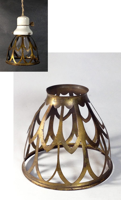 """画像1: 1930's """"Odd shapes"""" Brass Wire Bulb Cage【1個】 (1)"""