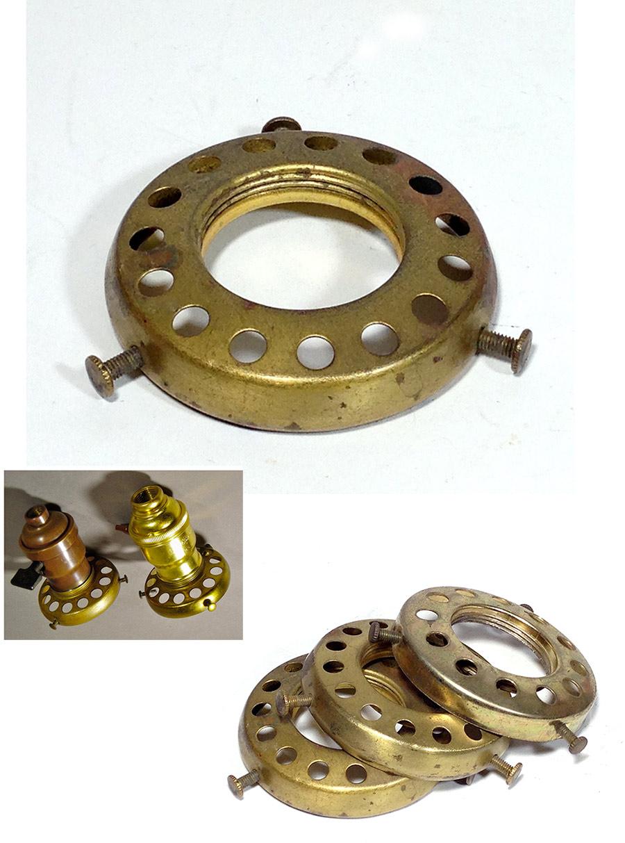画像1: 1920-30's Brass Shade fitters light fixture parts 【1個】 (1)