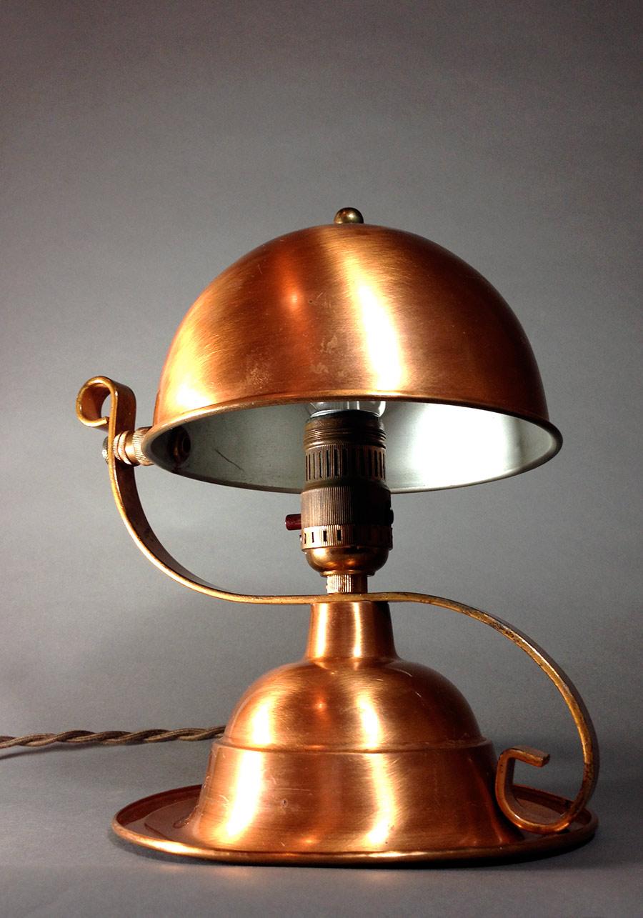 """画像1: 1930-40's """"Copper"""" Table Lamp (1)"""