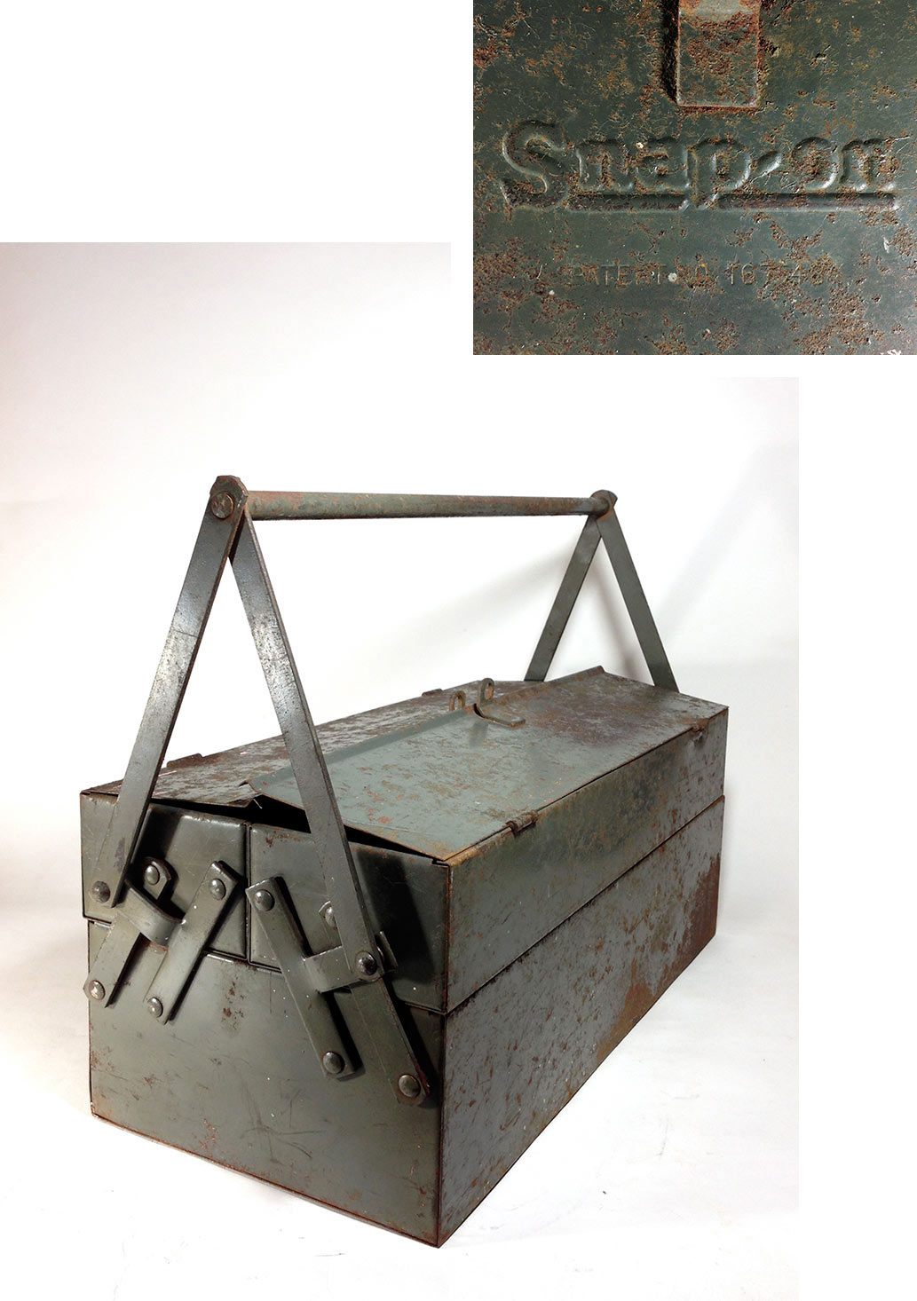 "画像1: Early-1930's【Snap-on】Tool Box  ""大型"" (1)"