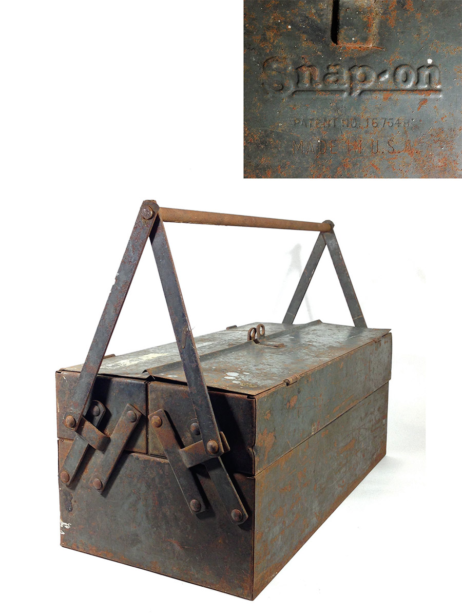 "画像1: 1930-early 40's【Snap-on】Tool Box  ""大型"" (1)"