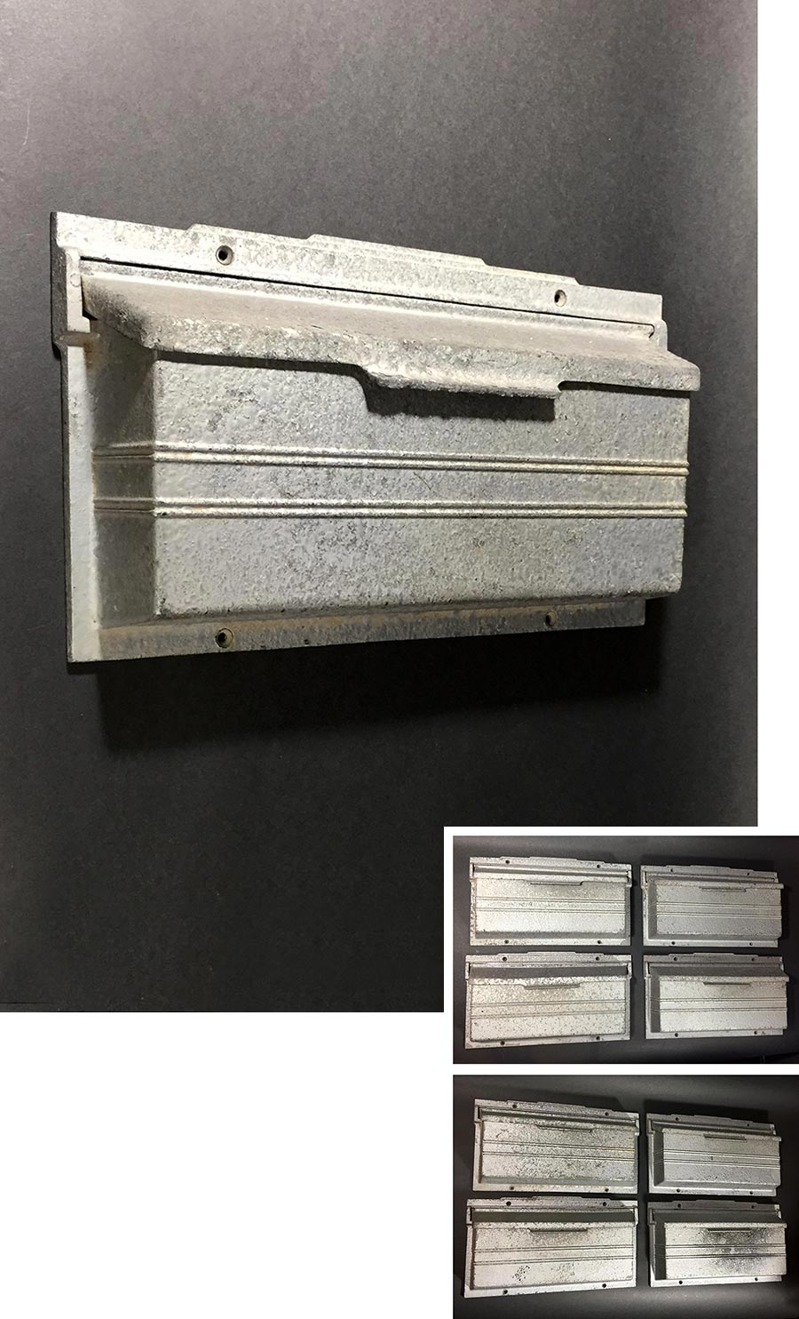 "画像1: - 再入荷 - 1940's ""STREAMLINE"" Cast Aluminum Wall Mount Mail Box -*ラスト1台です*- (1)"