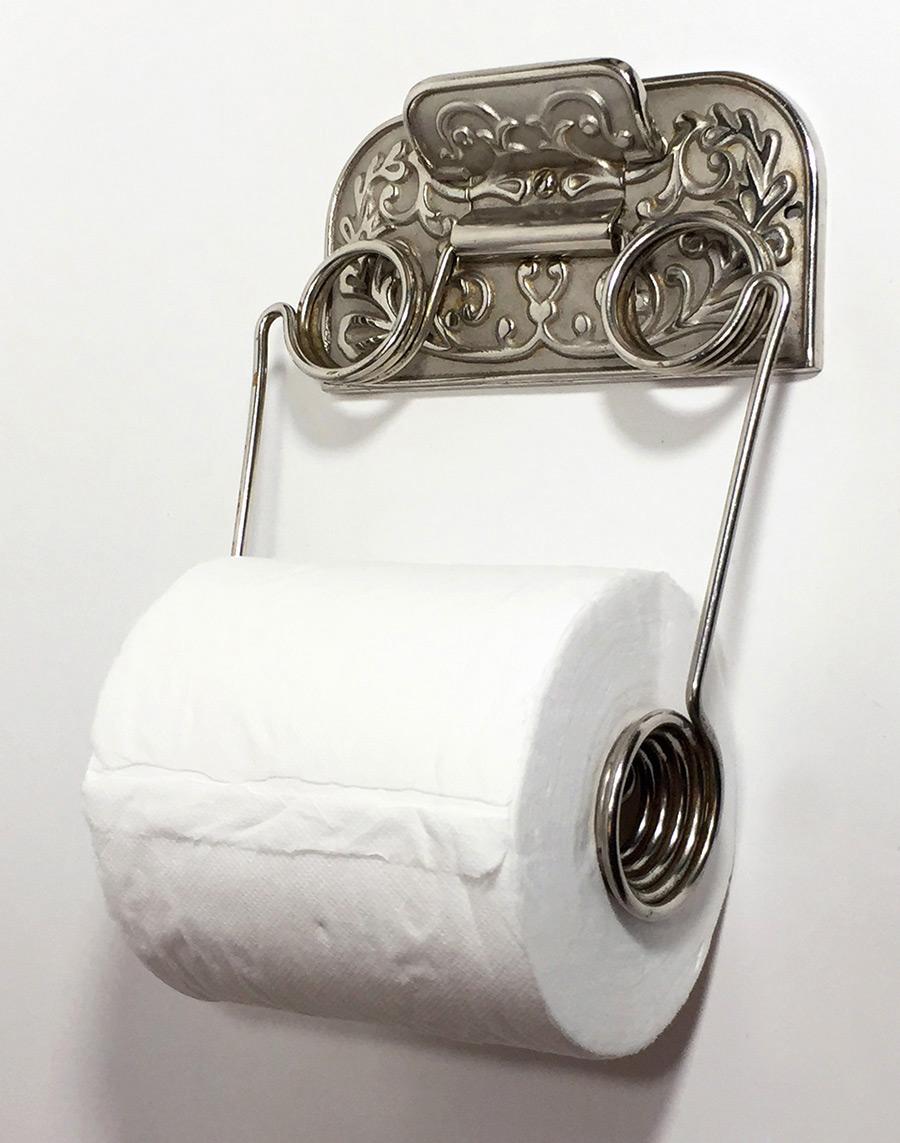画像1: 1890's【N.R.S. & CO.  N.Y.】Cast Iron Toilet Paper Holder (1)