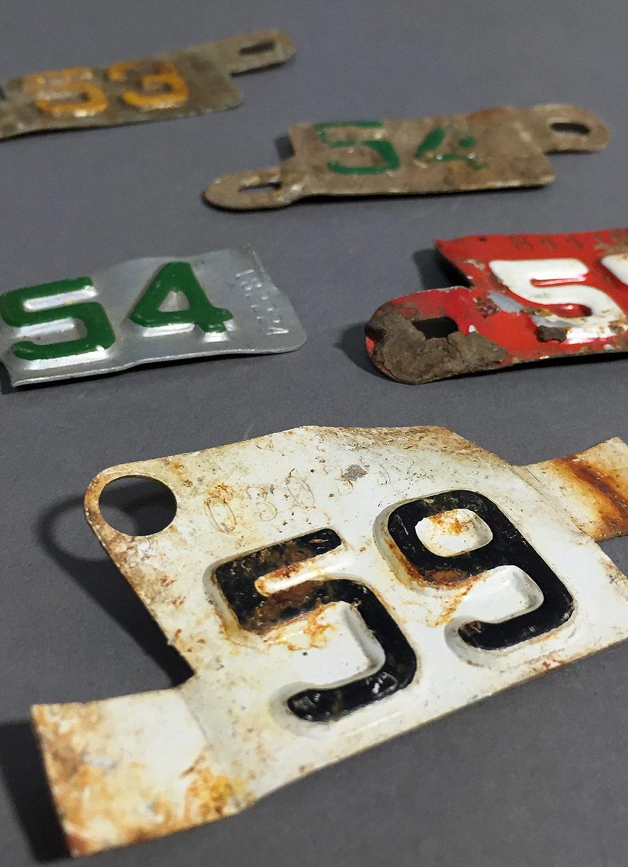 """画像1: """"Bicycle"""" License Plate Set (1)"""