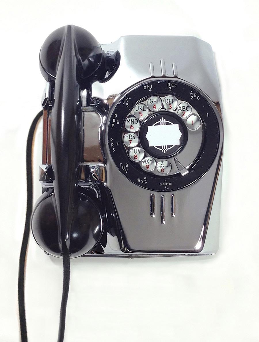"画像1: - 実働品 - 1940's U.S.ARMY ""2-Way"" Chromed Telephone【BLACK × SILVER】 (1)"