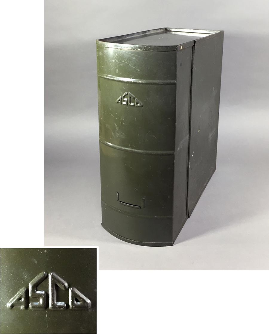"""画像1: 1930's """"ASCO N.Y."""" Steel File Box【 FAT !! 】 (1)"""