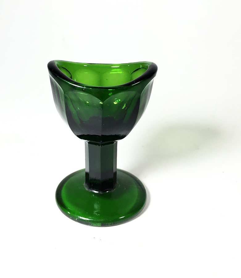 画像1: 1930's 【Dark Green】Eye Wash Glass Cup (1)