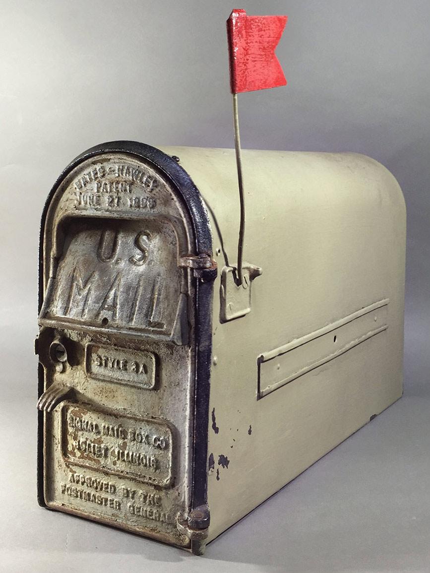 "画像1: PAT.1899 ""Cast Iron"" U.S.MAIL BOX (1)"