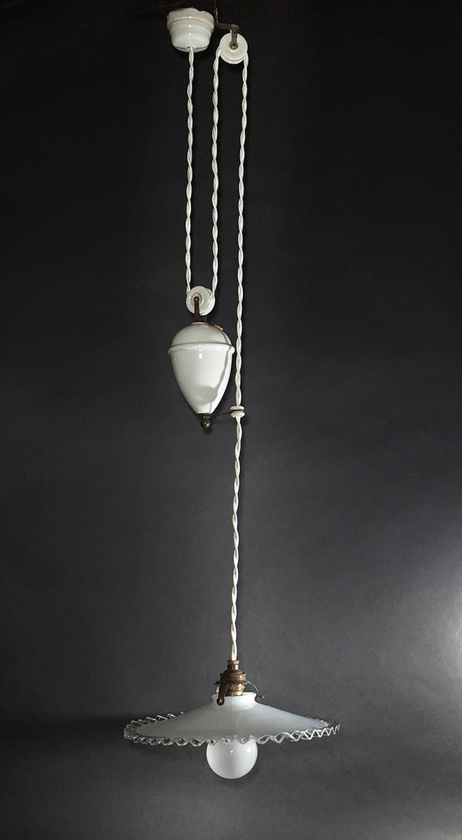 """画像1: 1920-30's French Country """"Rise&Fall"""" Pendant Lamp【Complete】 (1)"""