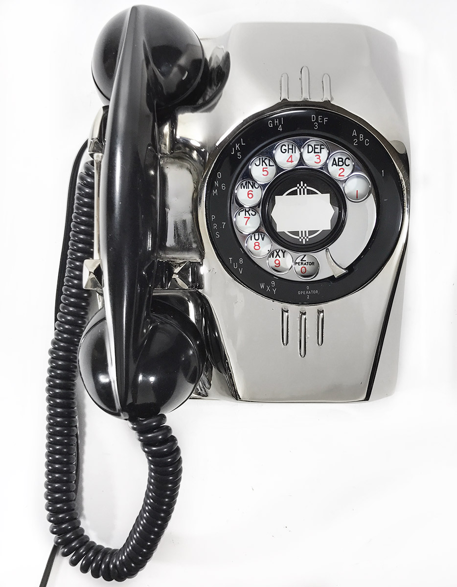 "画像1: - 実働品 - 1940's U.S.ARMY ""2-Way"" Chromed Telephone【BLACK × SILVER】 (1)"