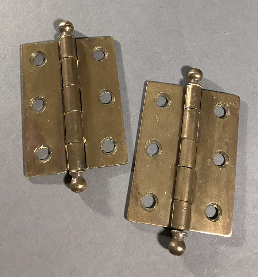 "画像1: 1920-30's ""Ball Tip"" Cabinet Hinges (1)"