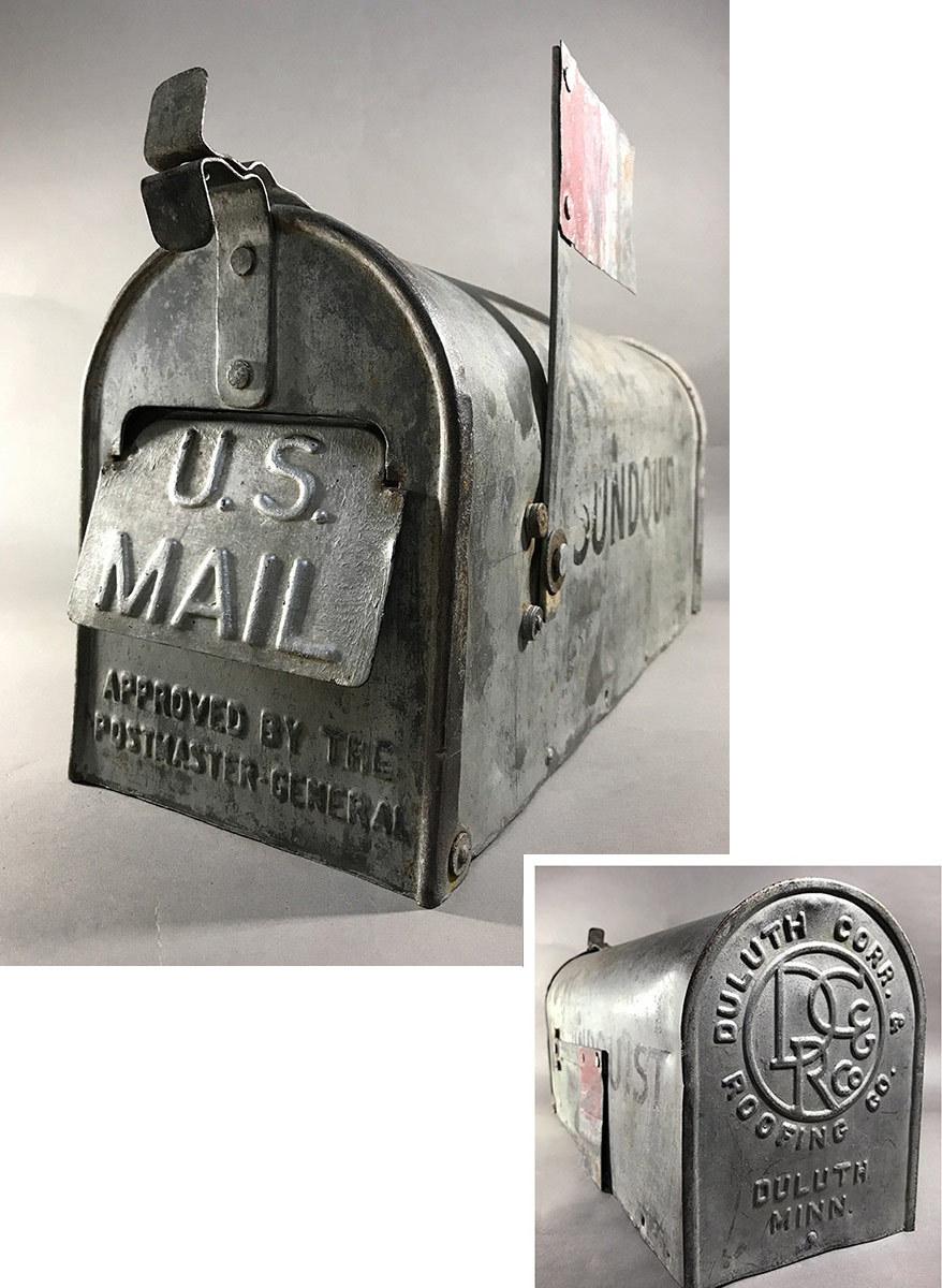 """画像1: Early 1920's """"Galvanized Steel """" RURAL U.S. MAILBOX (1)"""