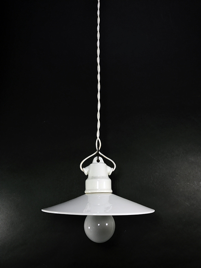 "画像1: 1920-30's ""Porcelain"" German MINI Pendant Light (1)"
