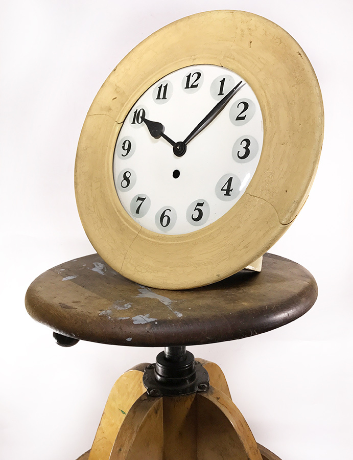 "画像1: 1920-30's Old German ""Shabby"" Country Clock (1)"