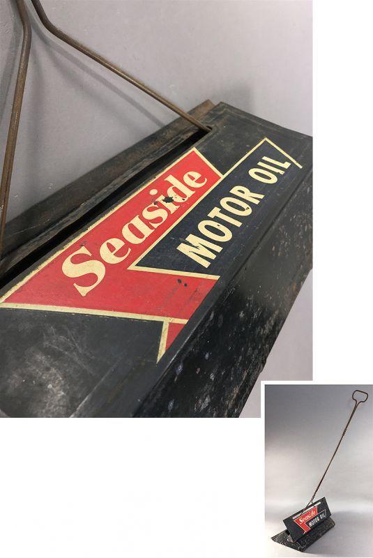 """画像1: 1940's """"Seaside Motor Oil"""" Advertising Dust Pan (1)"""