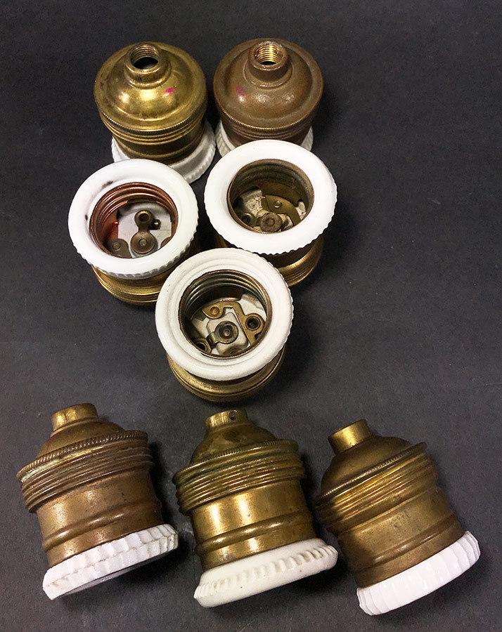"""画像1: """"E26"""" French Made Brass & Porcelain Lamp Socket 【バラ売り】 (1)"""