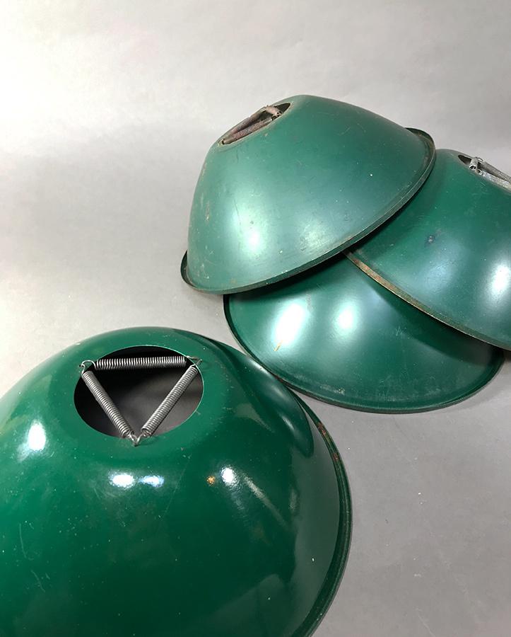 """画像1: 1940's """"Green & White"""" Steel  Shade 【バラ売り - 残り2個】 (1)"""