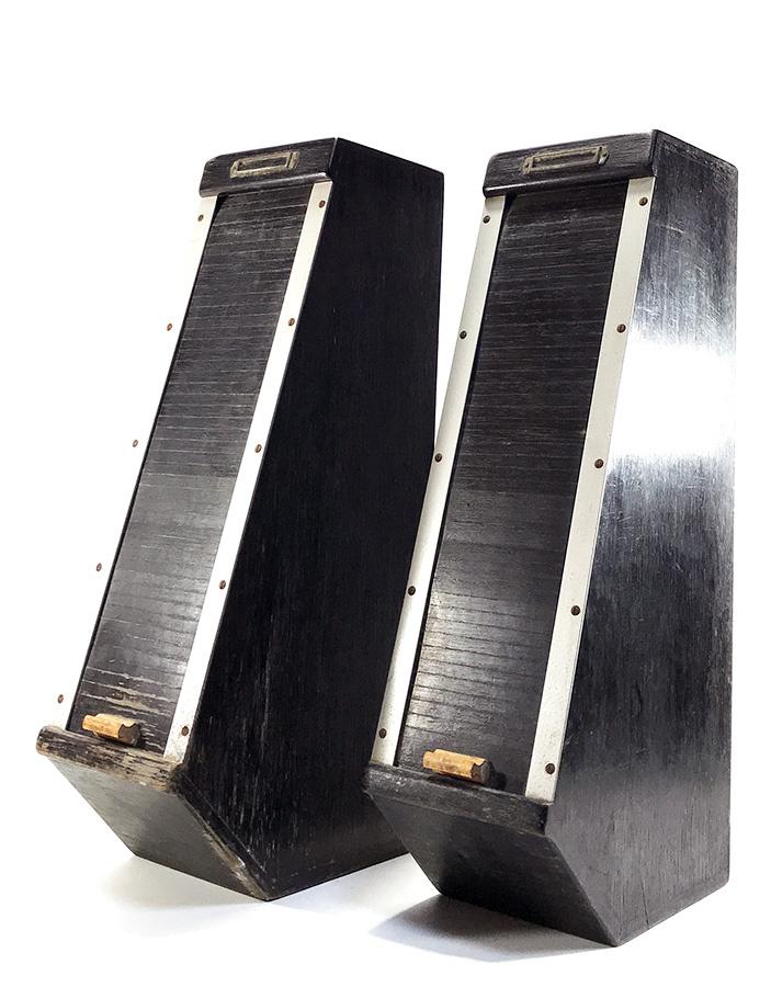 """画像1: 1930's German """"Roller Shutter"""" Photo Paper Cabinet  (1)"""