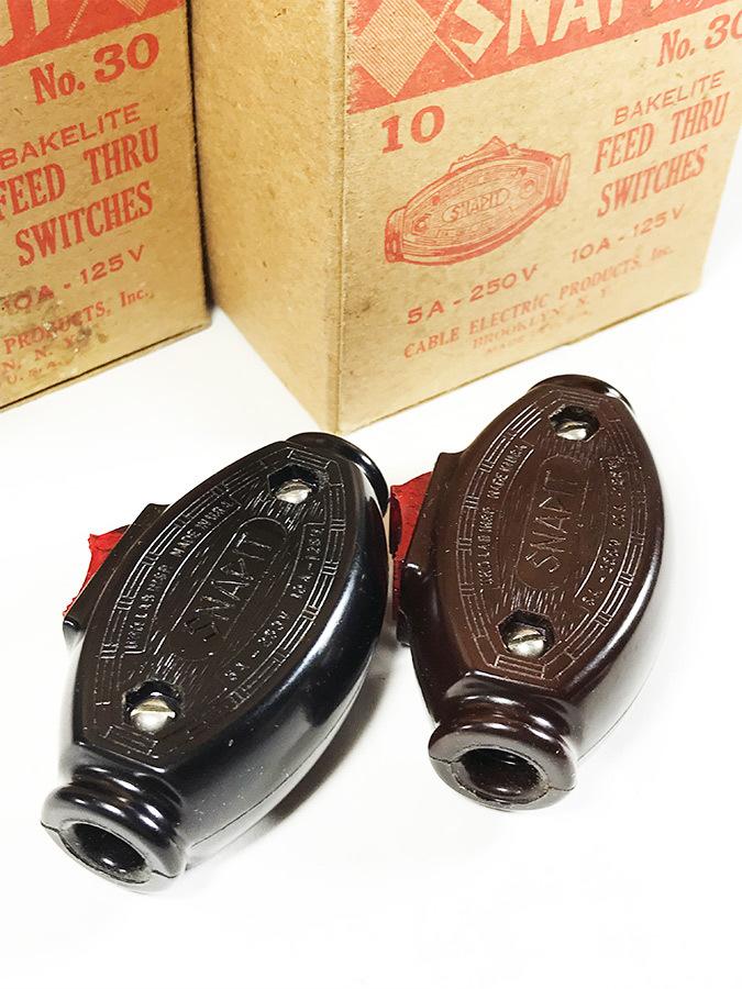 """画像1: -*ブラック再入荷*-  1930's """"SNAPIT"""" Bakelite Switch  【DEAD STOCK】2色 - バラ売り (1)"""