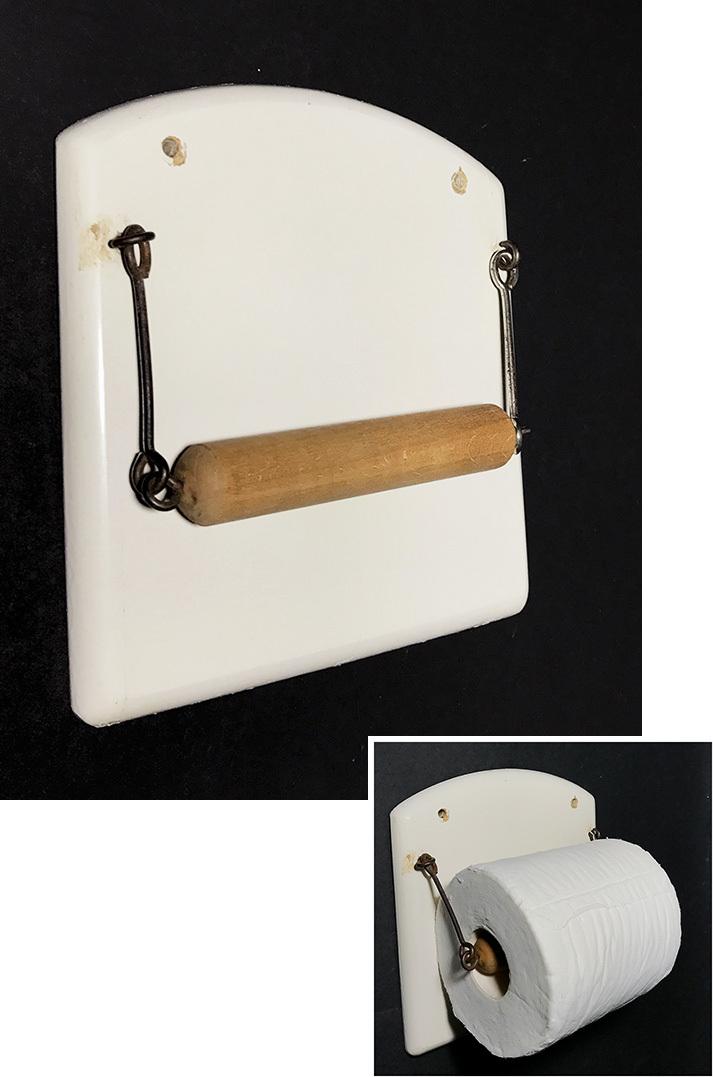 画像1: 1940's German Wooden Toilet Paper Holder (1)