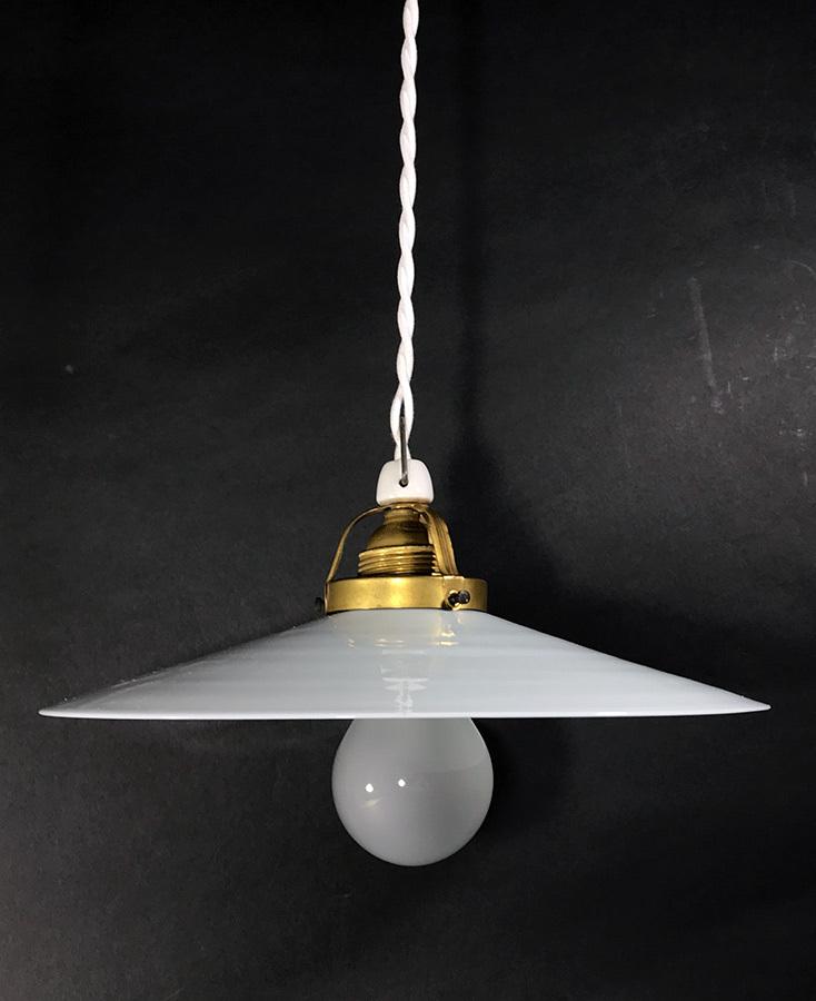 """画像1: German-Deco """"Milk Glass"""" Pendant Lamp (1)"""