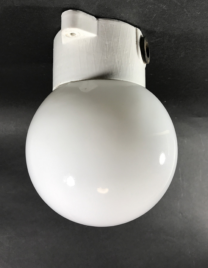 画像1: 1950's German Milk Glass&Porcelain Ceiling/Wall Light (1)
