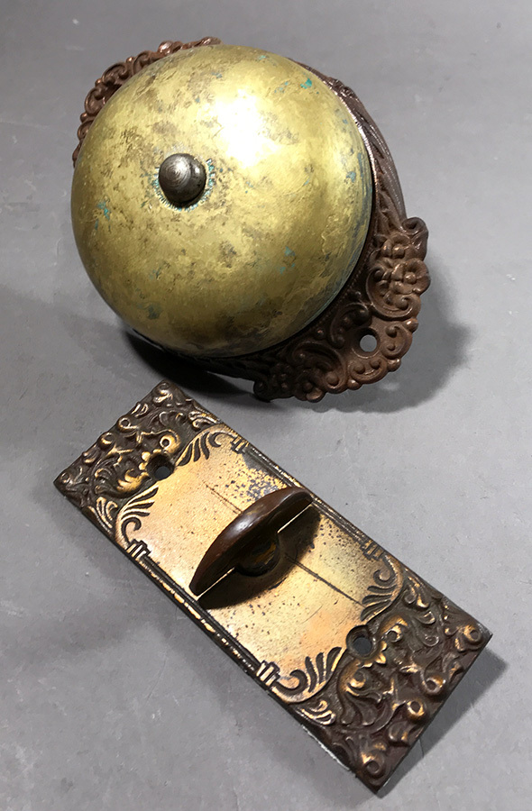 画像1: 1890's【Cast Iron&Brass】Doorbell (1)