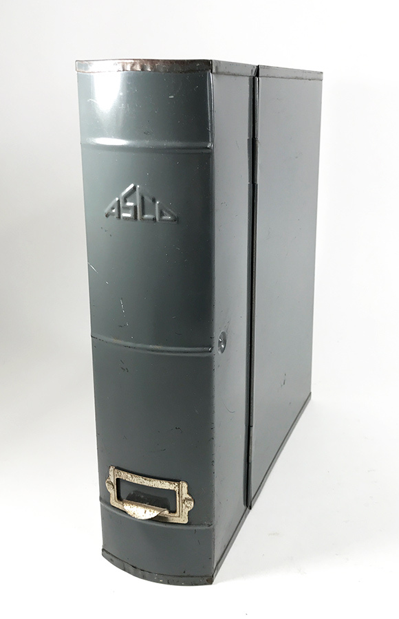 "画像1: 1950-60's ""ASCO N.Y."" Steel File Box (1)"