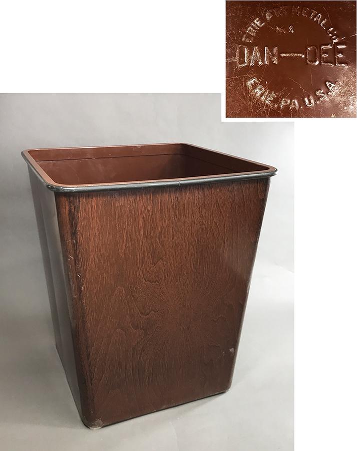 """画像1: 1940's """"DAN-DEE"""" Square Steel Trash Can (1)"""