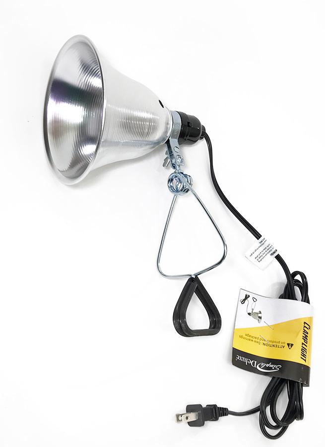 """画像1: 【NEW】  Aluminum Clamp Light """"up to 60 Watt"""" (1)"""