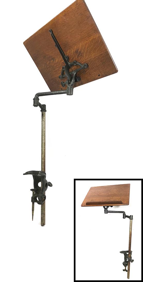 """画像1: ★1910's """"Cast Iron"""" Pivoting Swing Arm Book Stand ★ (1)"""