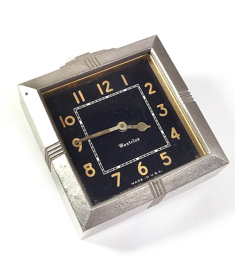 """画像1: 【処分品】  Art-Deco """"Black Dial"""" Automobile Clock【要オーバーホール】 (1)"""