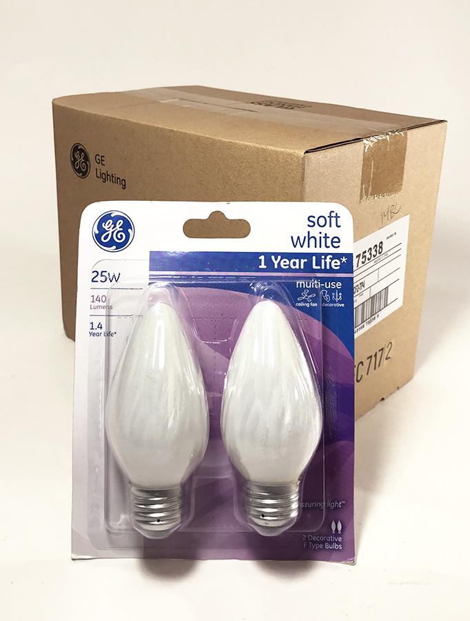 画像1: ★新品色★ White Candle Light Bulb【5パック = 10個】 (1)