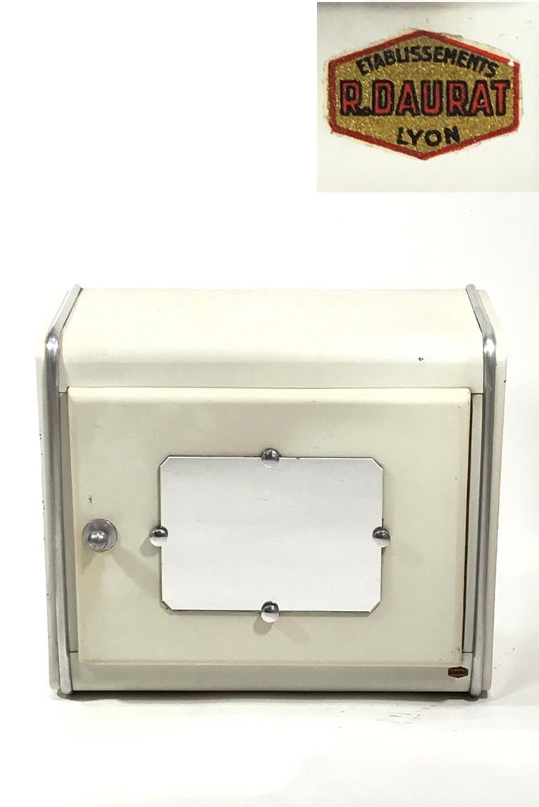 画像1: 1940-50's【R.DAURAT LYON 】 French Steel Bathroom Medicine Cabinet (1)