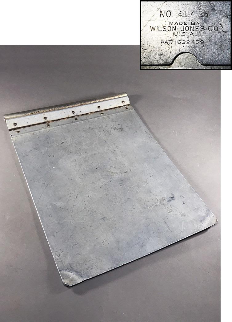 """画像1: 1920's 【Wilson-Jones Co.】 """"Machine Age"""" Aluminum Riveted BINDER (1)"""