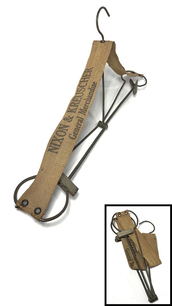 """画像1: 1920-30's """"Advertising""""  Folding Hanger with Pants Clips  (1)"""