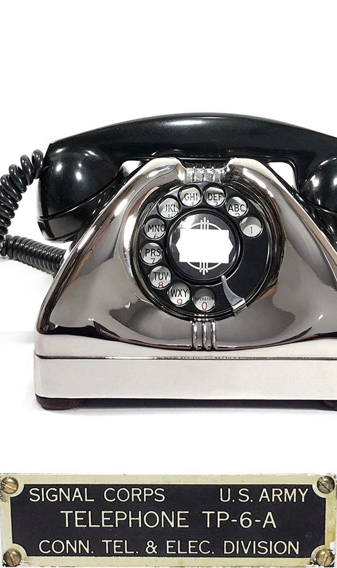 画像1: - 実働品 -  1940's U.S.ARMY Chromed Telephone 【★ROYAL CHROME★】 【★バックプレート付き★】 (1)