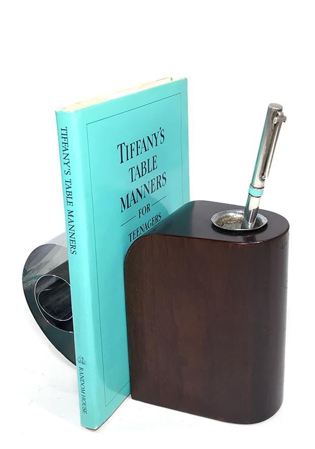 """画像1: 1930's【Revere Rome N.Y. 】 Art Deco """"Scroll"""" Bookend / Pen Holder (1)"""