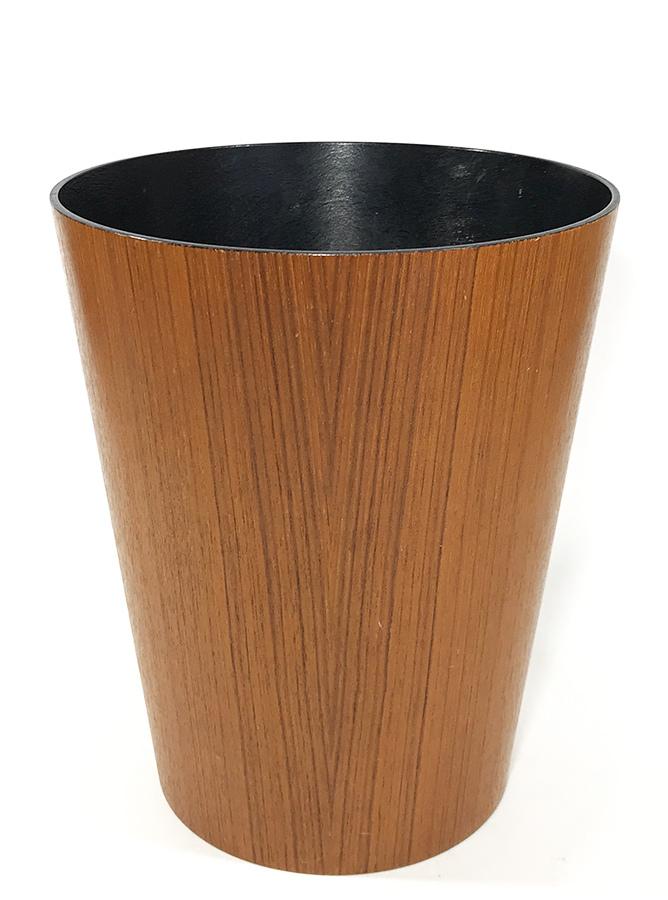 """画像1: 1950-60's """"Mid-Century Modern"""" Teak Wood Waste Basket (1)"""