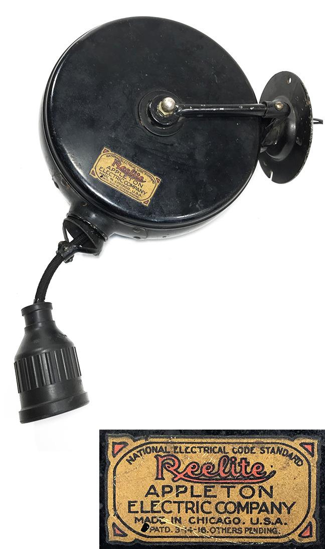 """画像1: 1910-30's """"Reelite"""" Cord Reel (1)"""