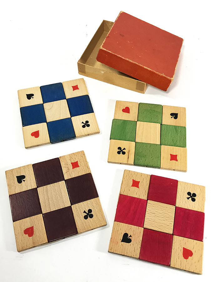 "画像1: 1950's ""4 colors"" Wooden Coasters 【Made in West Germany】 (1)"