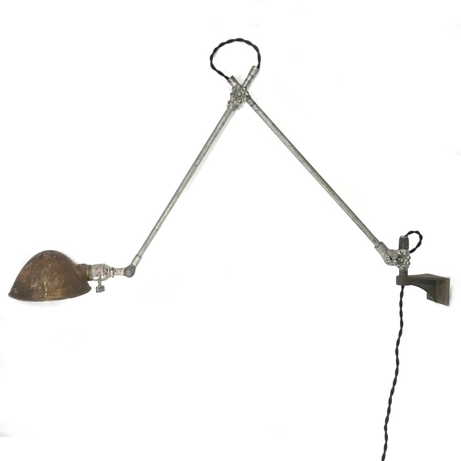 """画像1: 1930's【O.C.White】 """"Double Arm""""  Wall-Mounted Task Light (1)"""
