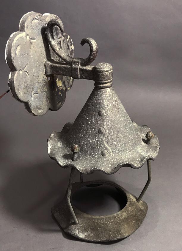 """画像1: 【処分品】  1930-40's """"Shabby"""" Caged Porch Lamp (ガラスシェード無し) (1)"""