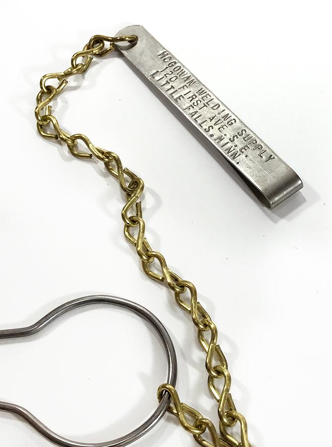 """画像1: 1930-40's """"Money Clip"""" or """"BELT CLIP"""" with Brass Chain (1)"""