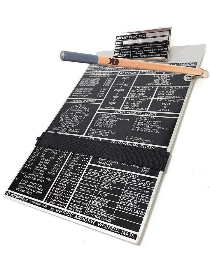 画像1: 1978 Aviation Pilot Aluminum Kneeboard (1)